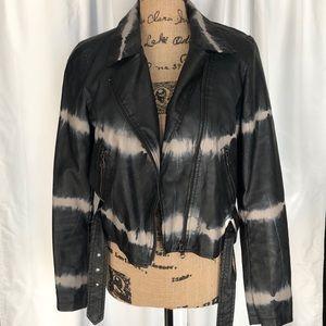 Rock & Republic Tye Dye Leather Jacket